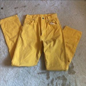Vintage Yellow Wranglers